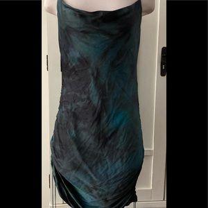 WIlFRED RUCHED BLACK/INDIGO DRESS NWT Retail $158